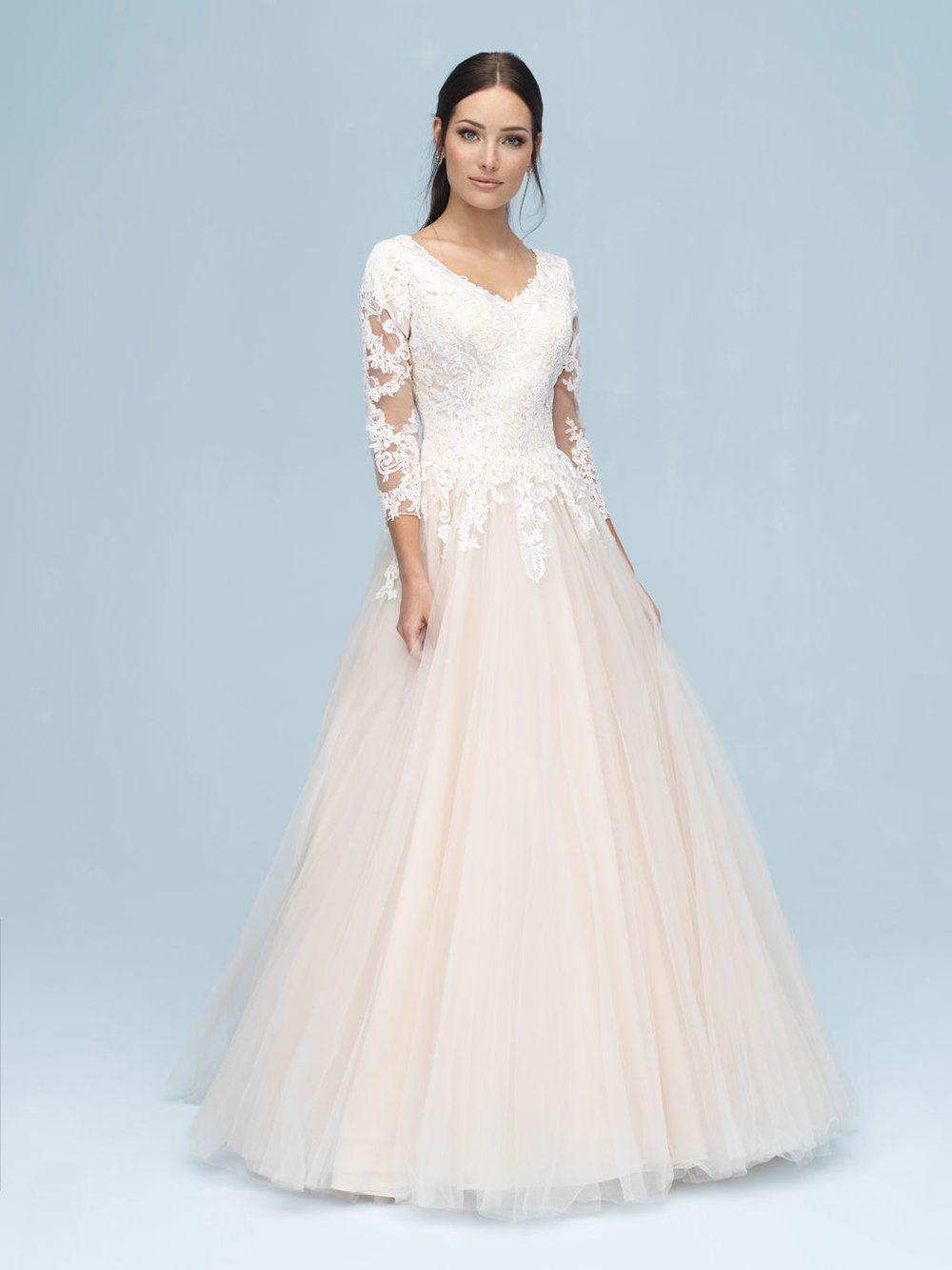 Allure M611 Modest Wedding Dress
