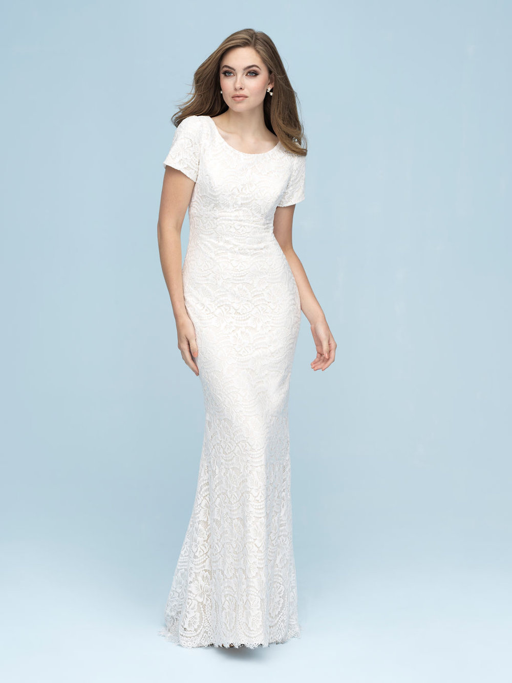 Allure M610 Modest Wedding Dress