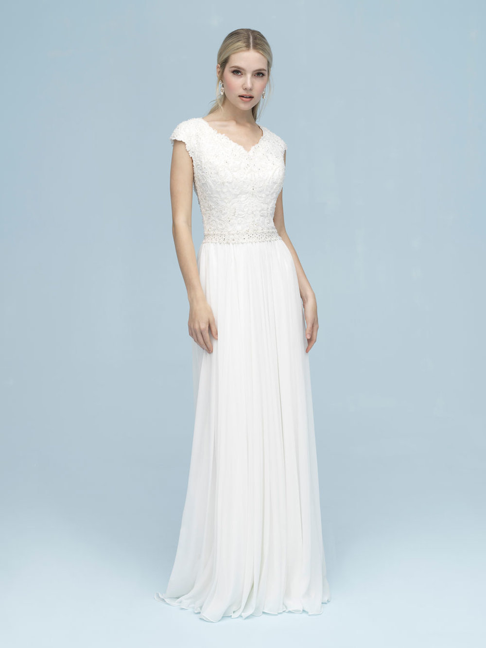 Allure M613 Modest Wedding Dress