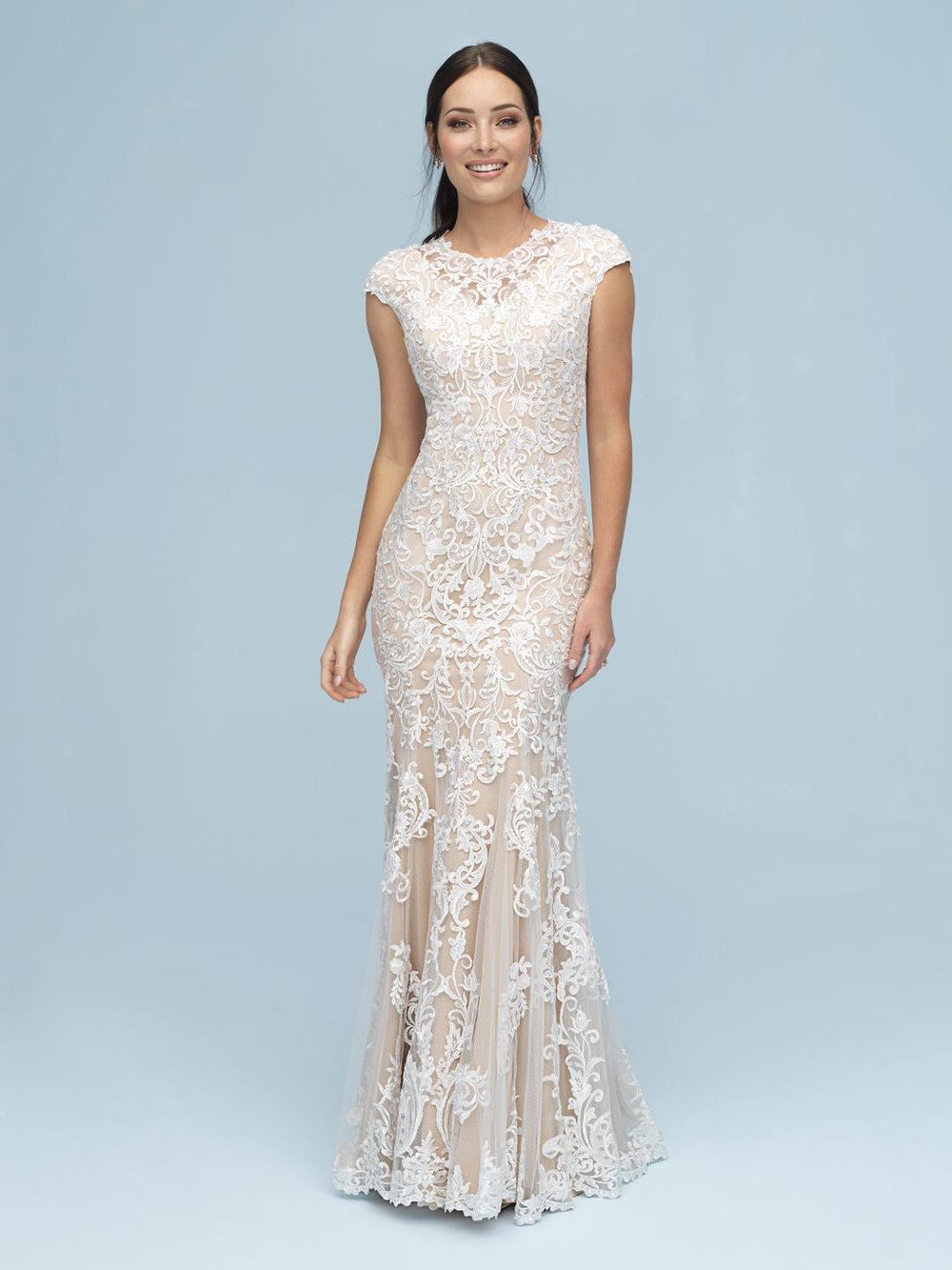 Allure M614 Modest Wedding Dress