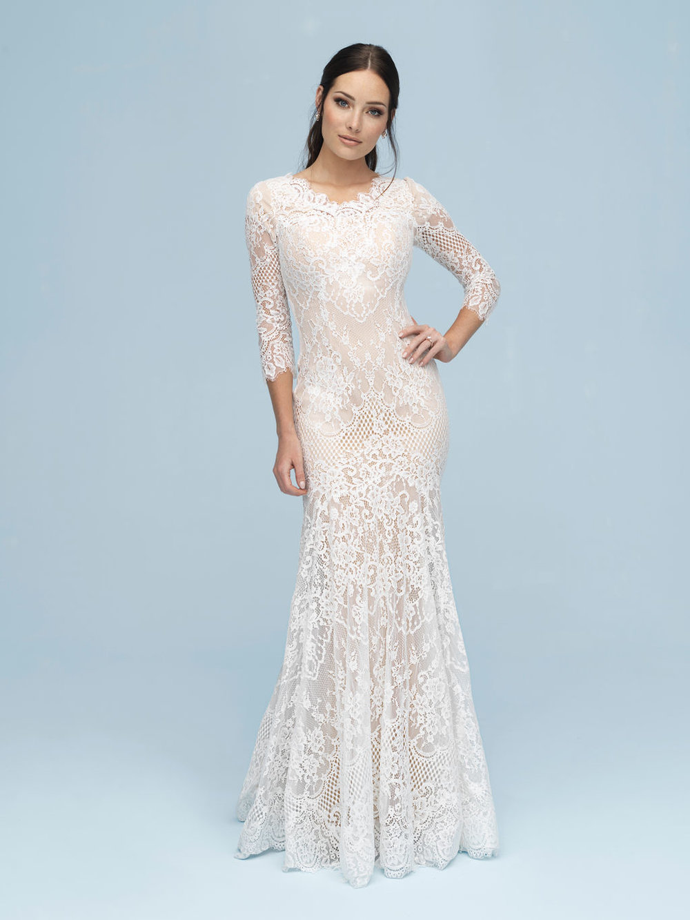 Allure M615 Modest Wedding Dress