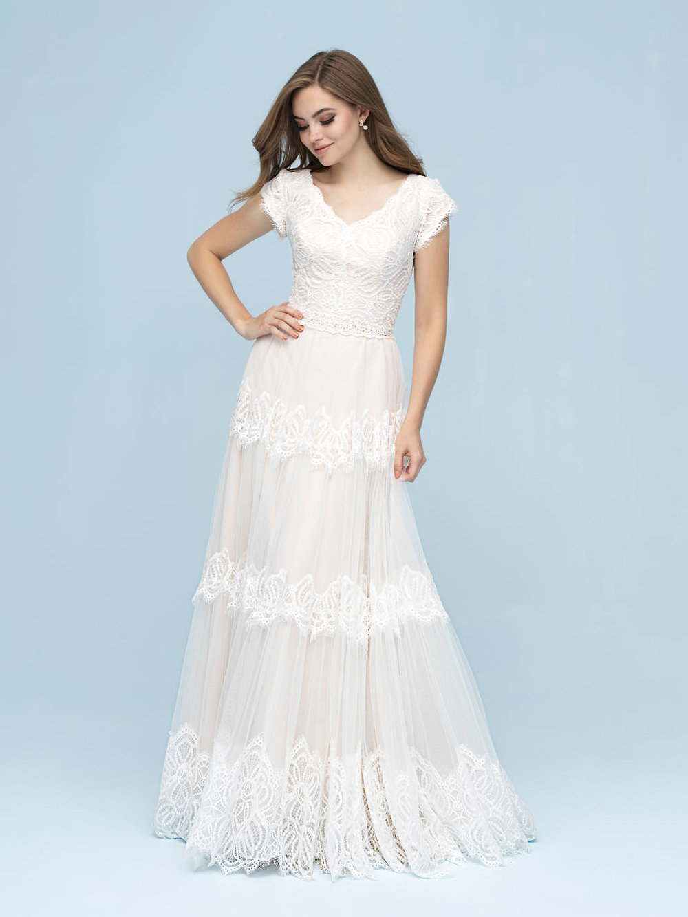 Allure M617 Modest Wedding Dress