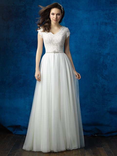 Allure M564 Modest Wedding Gown