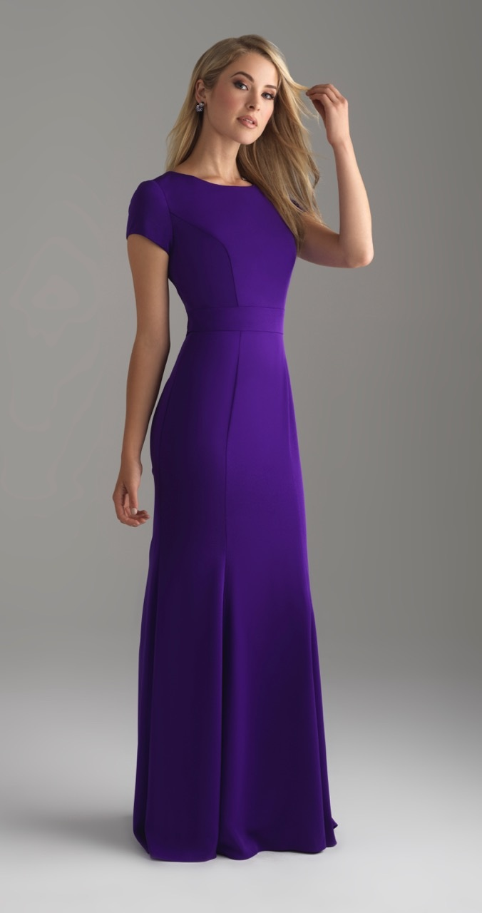 Allure 18-805M Purple Modest Prom