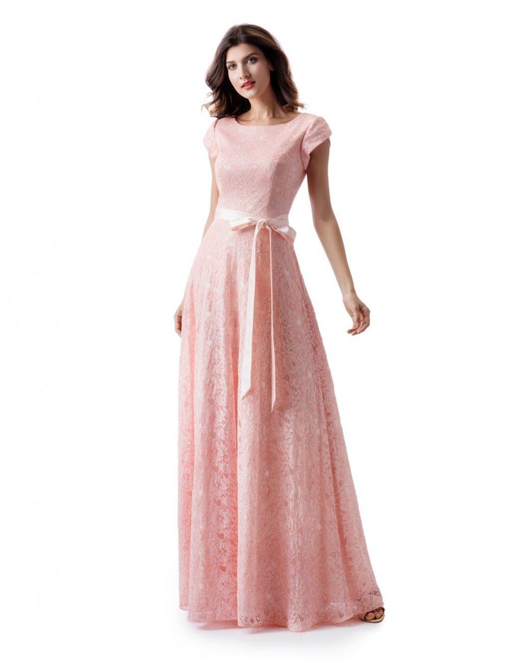 Venus TM1822 Ice Pink Modest Prom