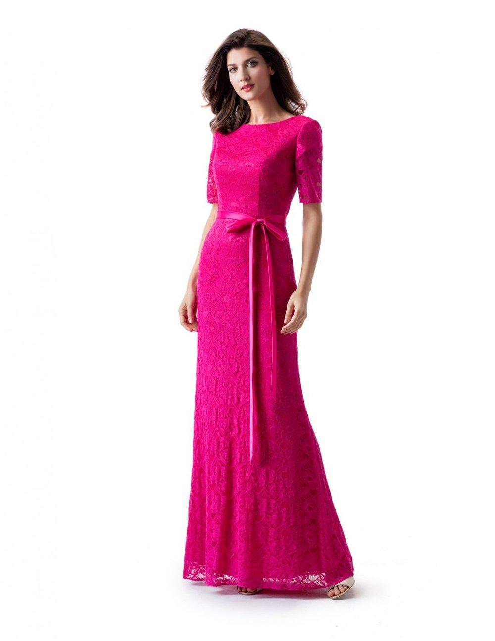 Venus TM1823 Hot Raspberry Modest Prom