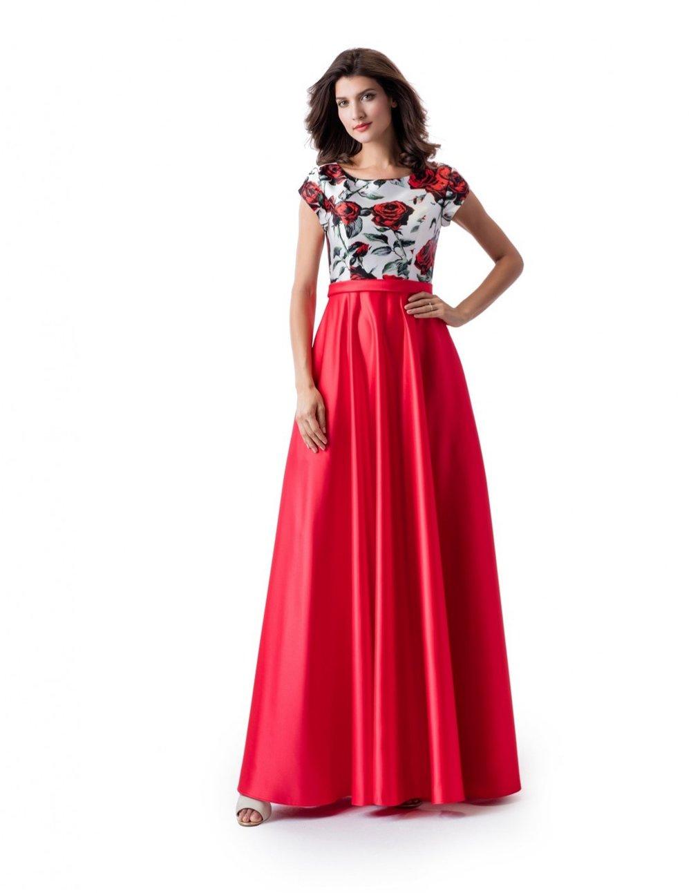 Venus TP5657 Floral Watermelon Modest Prom