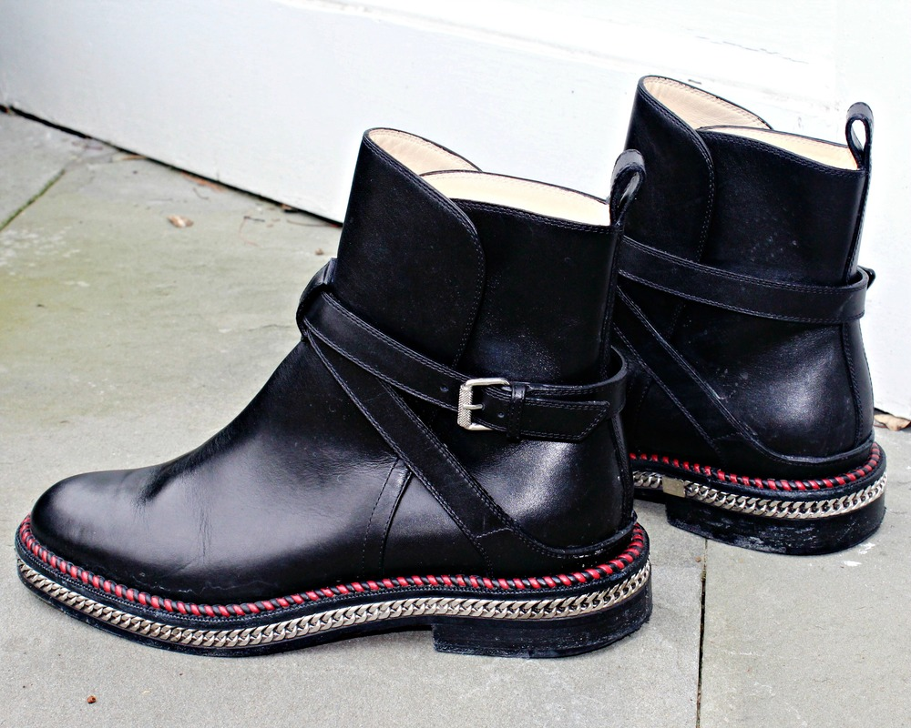 Christian Loubiton Chelsea Chain Ankle Boots
