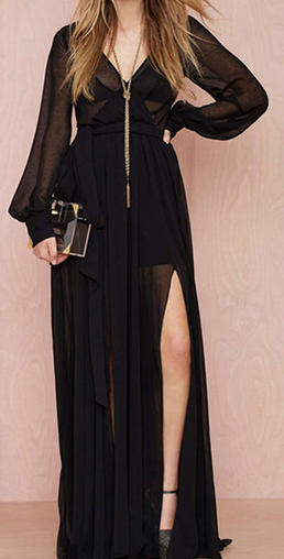 Sheer Black Maxi Dress