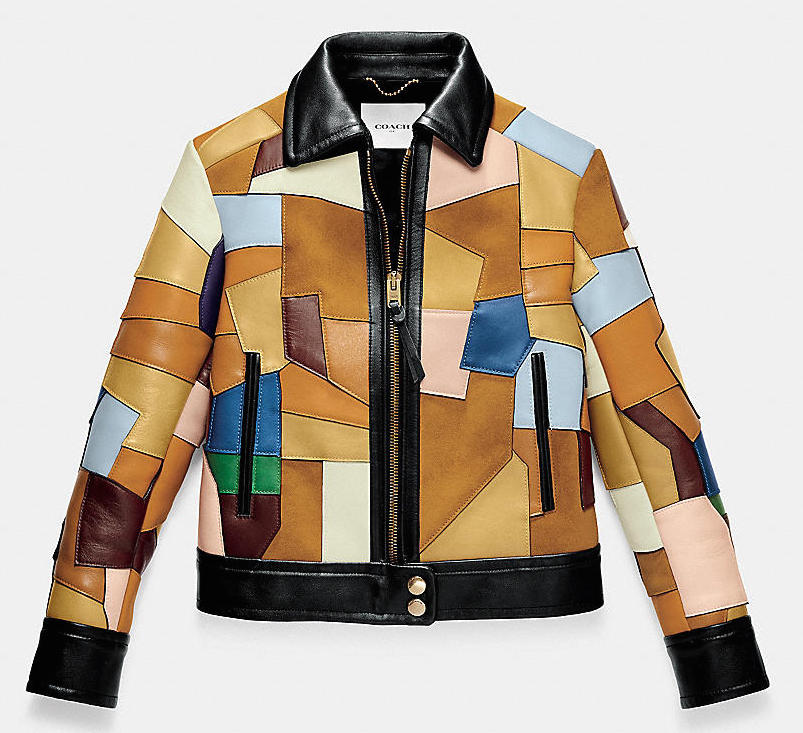 Coach Color Block Patched Mod Jacket