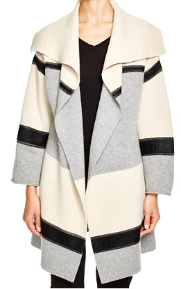 Vince Color Block Car Coat