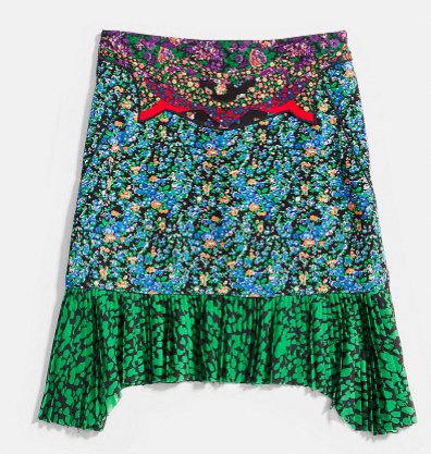 High Waisted Applique Skirt