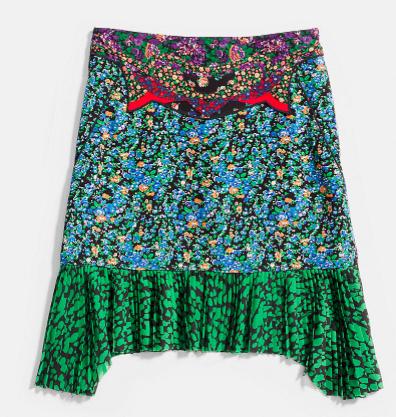 High Waisted Applique Skirt