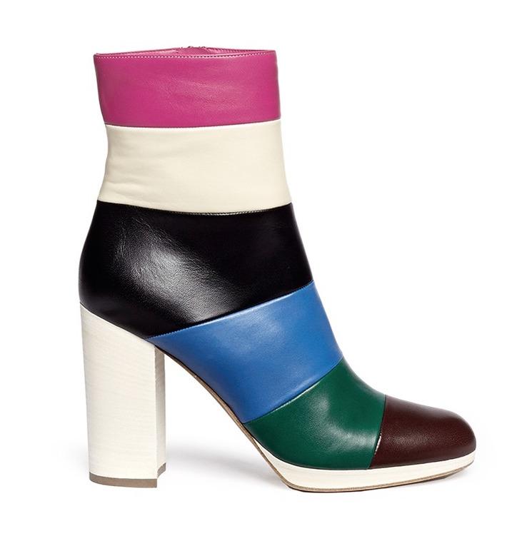 Valentino Striped Boots