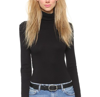 Splendid Black Turtleneck