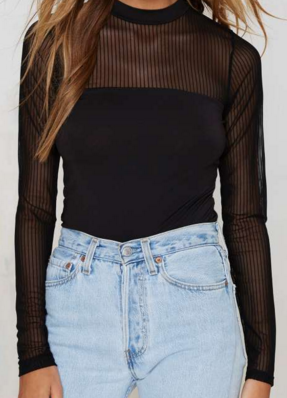 Nasty Gal Sheer Top