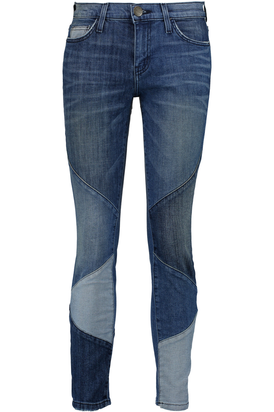 CURRENT/ELLIOTT PATCHWORK JEANS