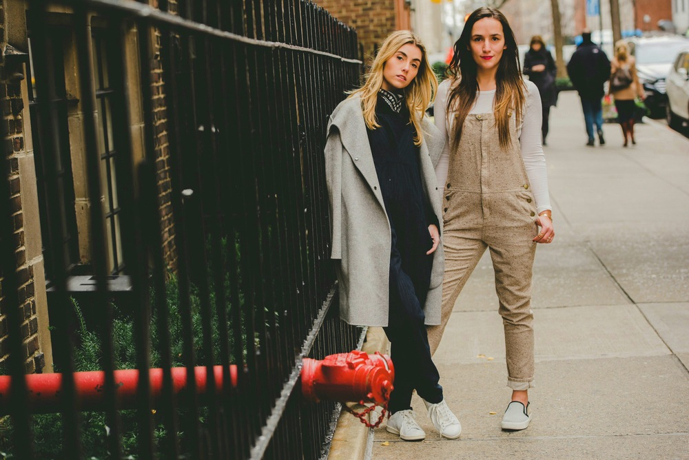 NYC Sister Bloggers in Overalls