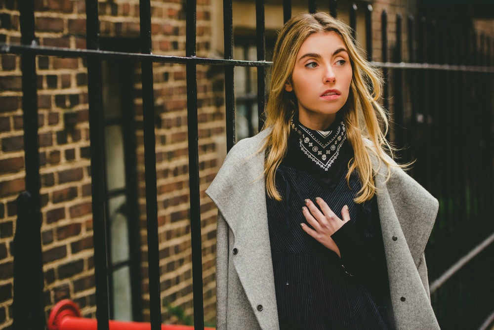 NYC Fashion Blogger in Coach Skull Bandana