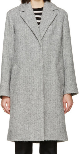 RAG & BONE LONG GREY COAT