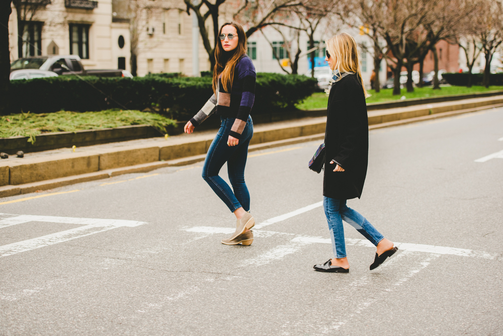 NYC STREET STYLE ON PARK AVE- SISTER BLOGGERS