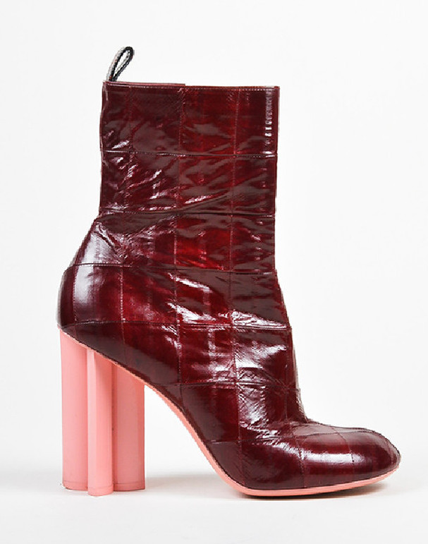 LOUIS VUITTON RED HEELED BOOTS