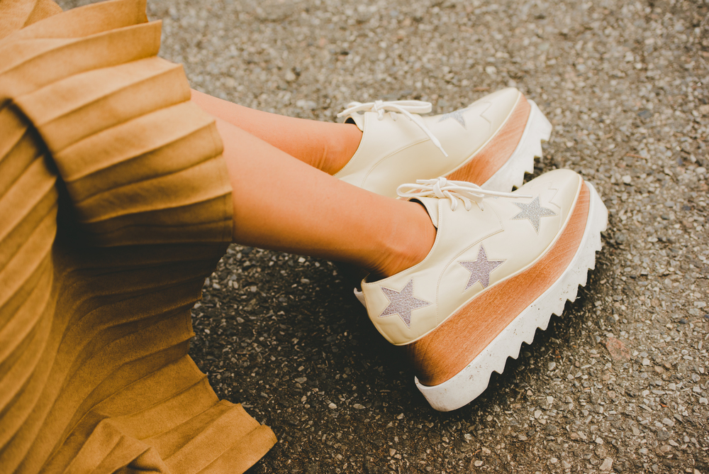 Stella McCartney Star Platform Shoes Close Up