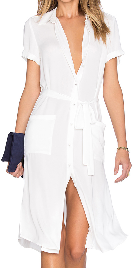 L'ACADEMIE WHITE SHIRT DRESS
