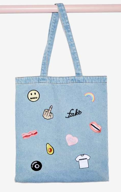 FACTORY DENIM PATCH TOTE