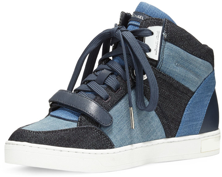 MICHAEL KORS DENIM HIGH-TOPS