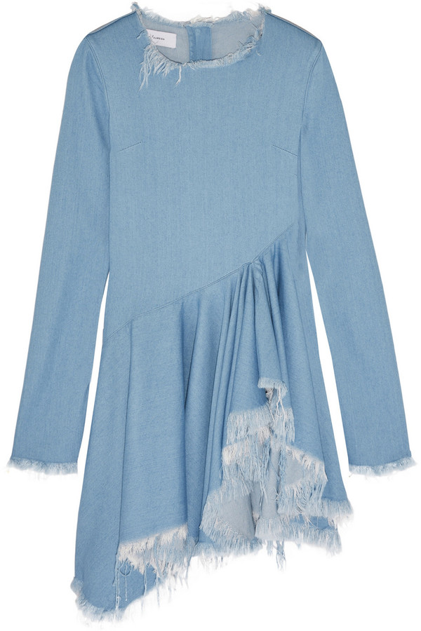 MARQUES' ALMEIDA FRAYED DENIM DRESS