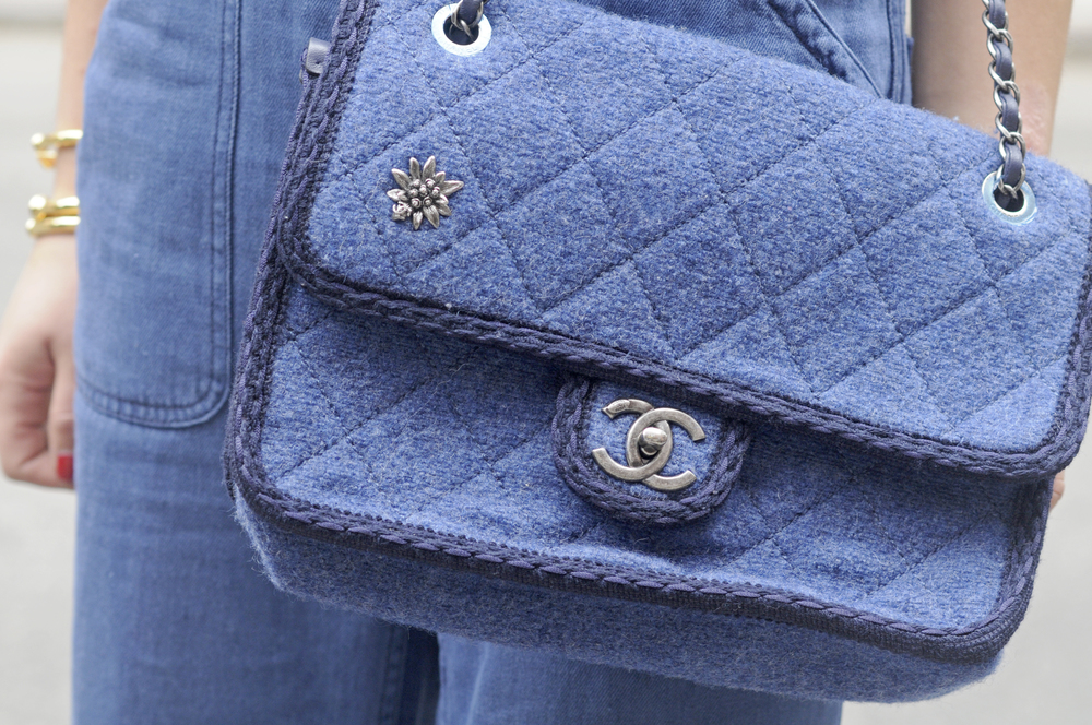 CHANEL DENIM QUILTED BAG