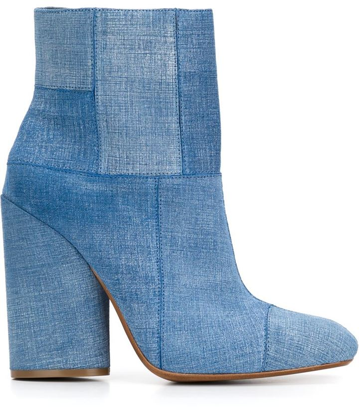 DEREK LAM 10 CROSBY DENIM BOOTS