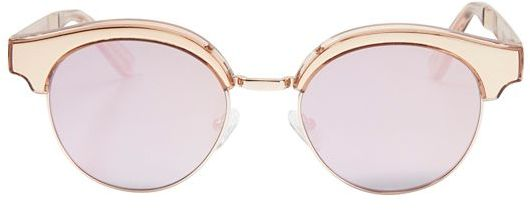 LE SPECS CAT EYE MIRRORED SUNGLASSES