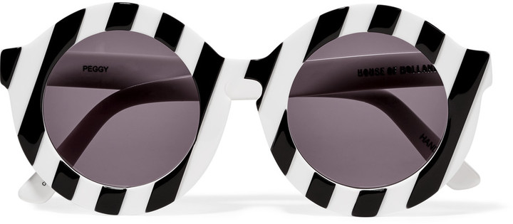 HOUSE OF HOLLAND PEGGY PRINTED ROUND-FRAME SUNGLASSES