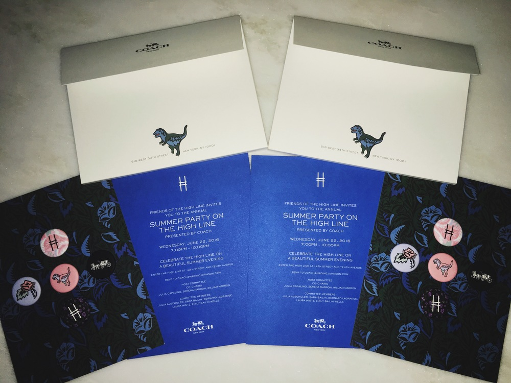 COACH HIGHLINE SUMMER PARTY INVITES 2016