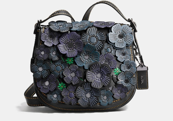 COACH 1941 TEA ROSE APPLIQUÉ SADDLE BAG