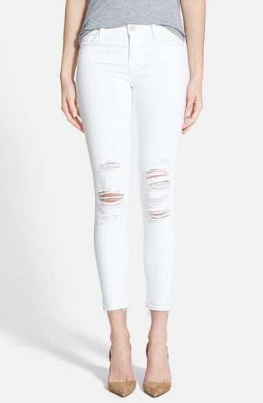 J BRAND DENIM RIPPED JEANS