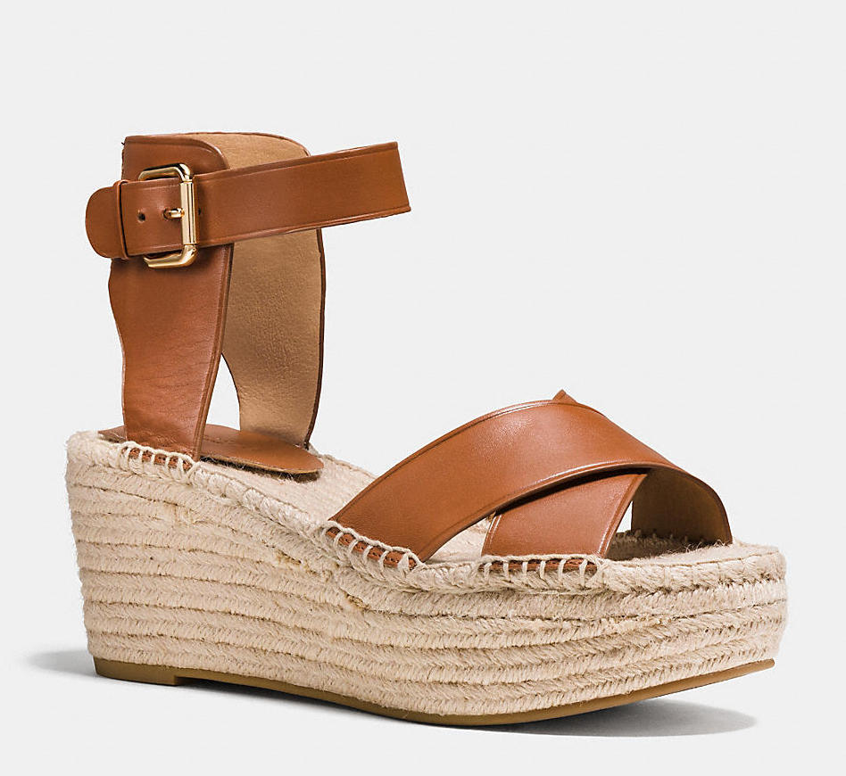 COACH 'PRIMROSE' WEDGE SANDALS