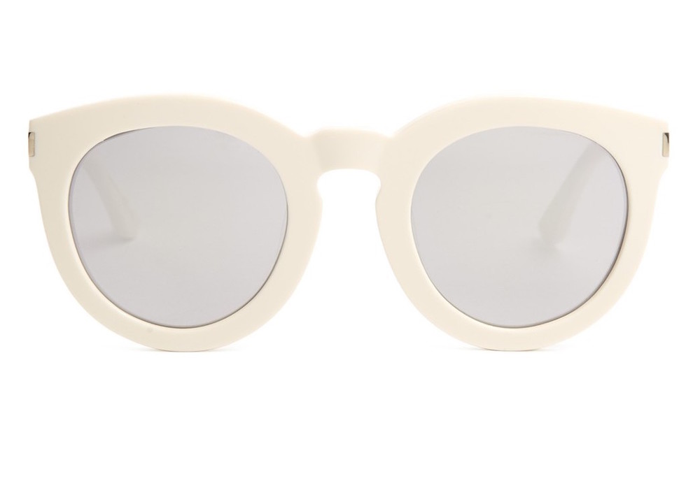 SAINT LAURENT WHITE MIRROR SUNGLASSES