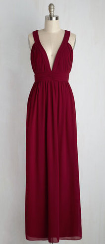 TFNC LONDON GLAMOUR MAROON MAXI DRESS
