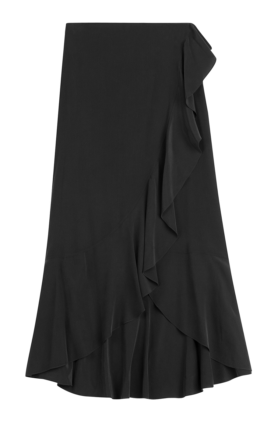 THEORY SILK RUFFLE MAXI SKIRT