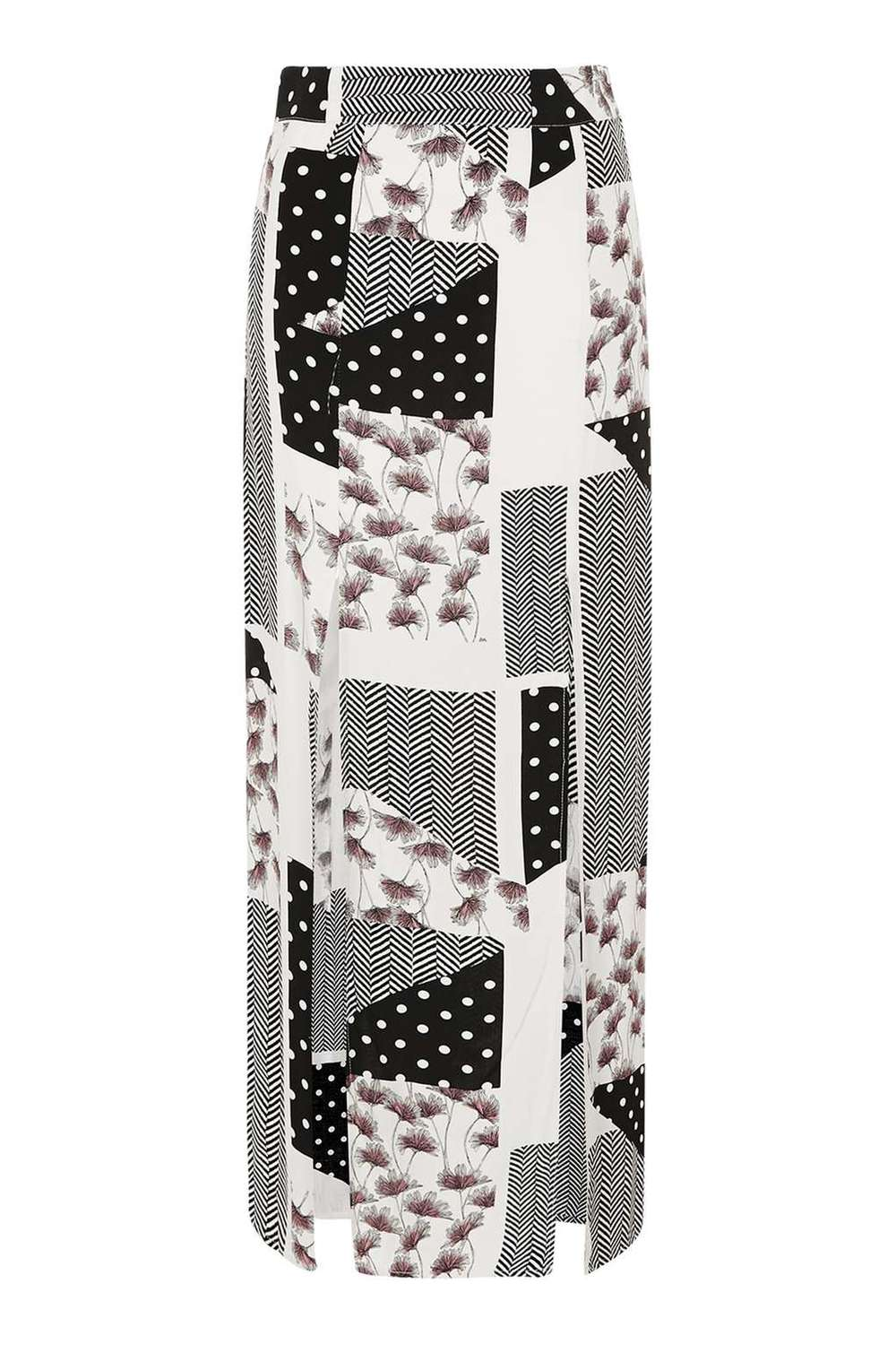 TOPSHOP PATCH PRINT MAXI SKIRT