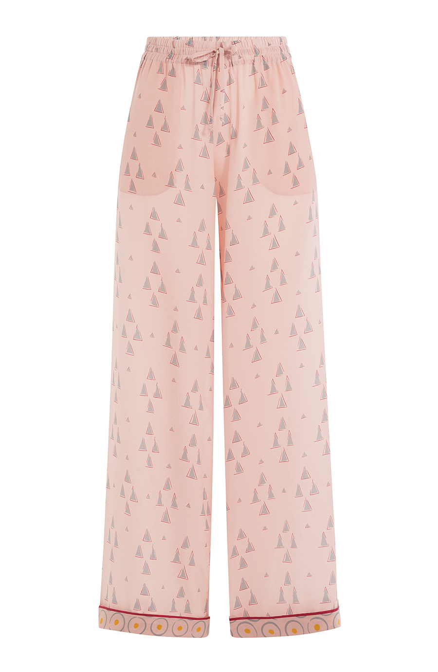 VALENTINO WIDE LEG PRINTED PANTS