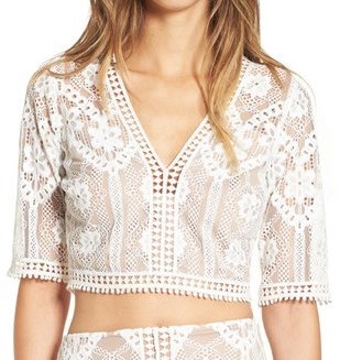 FOR LOVE & LEMONS X NORDSTROM 'FLORENCE' CROP TOP (NORDSTROM EXCLUSIVE)