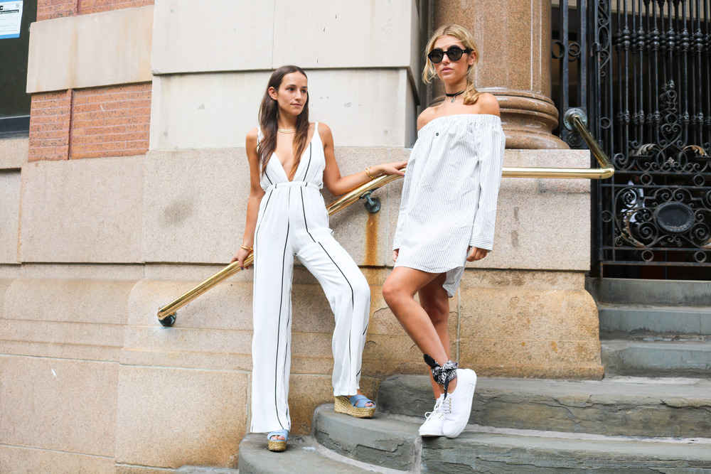 SOPHIE AND CHARLOTTE BICKLEY SISTER BLOGGERS NYC STREET STYLE YIN 2MY YANG