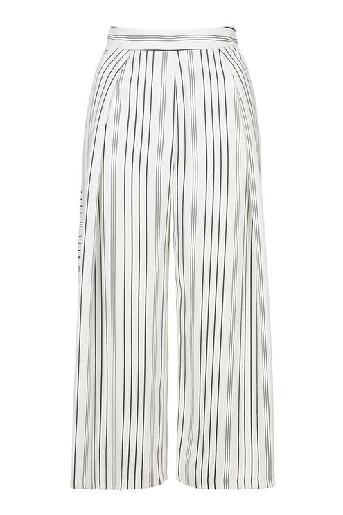 TOPSHOP PIN STRIPE WIDE LEG PANT
