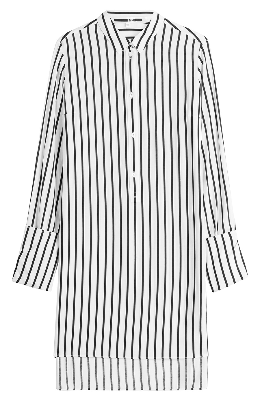 MCQ ALEXANDER MCQUEEN STRIPED TUNIC SHIRT