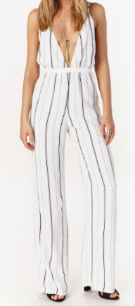 FAITHFULL THE BRAND 'SHUTTERBABE' STRIPED JUMPSUIT