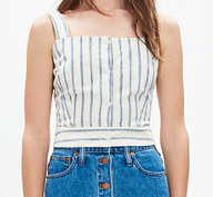 MADEWELL IKAT STRIPED CROP TOP
